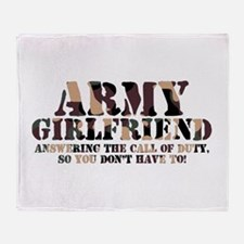 Army Girlfriend Call of Duty Throw Blanket