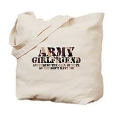 Army Girlfriend Call of Duty Tote Bag