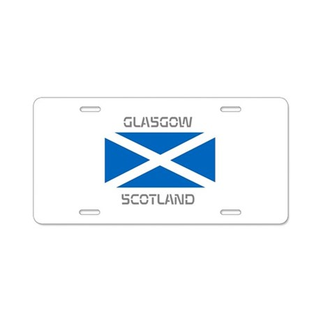 Glasgow Scotland Aluminum License Plate