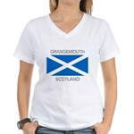 Grangemouth Scotland Women's V-Neck T-Shirt