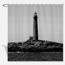 Thatcher Island Lighthouse Shower Curtain
