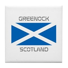 Greenock Scotland Tile Coaster
