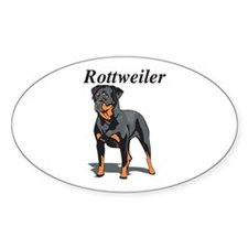Rottweiler Title Oval Decal