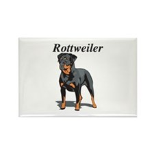 Rottweiler Title Rectangle Magnet