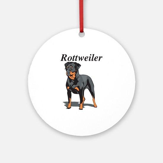 Rottweiler Title Ornament (Round)