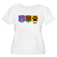 Peace Love Border Collie Plus Size T-Shirt