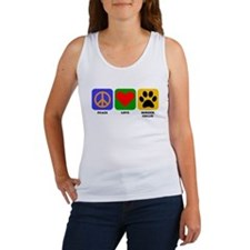 Peace Love Border Collie Tank Top