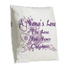 Nana Love Burlap Throw Pillow