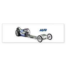 Blue Fuel Dragster Bumper Bumper Sticker