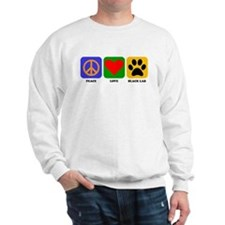 Peace Love Black Lab Sweatshirt