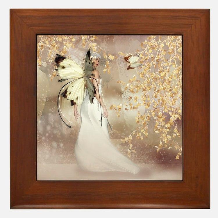 Fantasy Fairy Imbolc Spirit Framed Tile