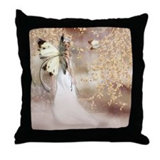 Fantasy Fairy Imbolc Spirit Throw Pillow