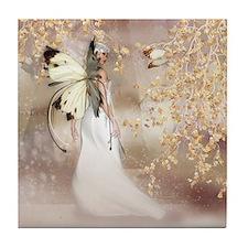 Fantasy Fairy Imbolc Spirit Tile Coaster