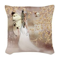 Fantasy Fairy Imbolc Spirit Woven Throw Pillow