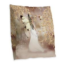 Fantasy Fairy Imbolc Spirit Burlap Throw Pillow