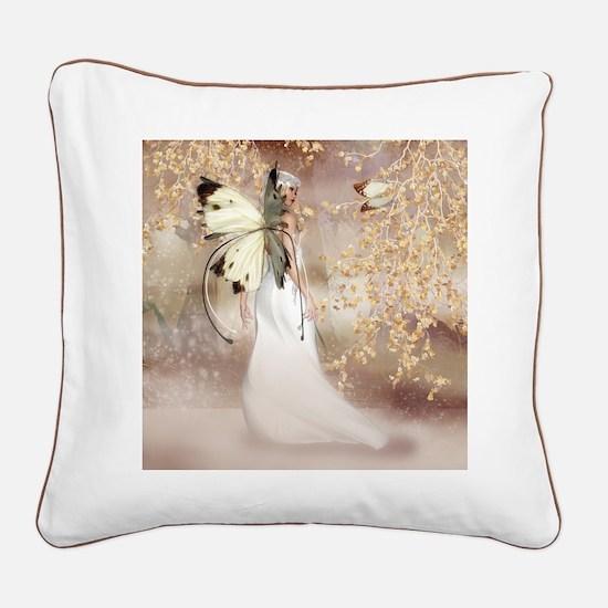 Fantasy Fairy Imbolc Spirit Square Canvas Pillow