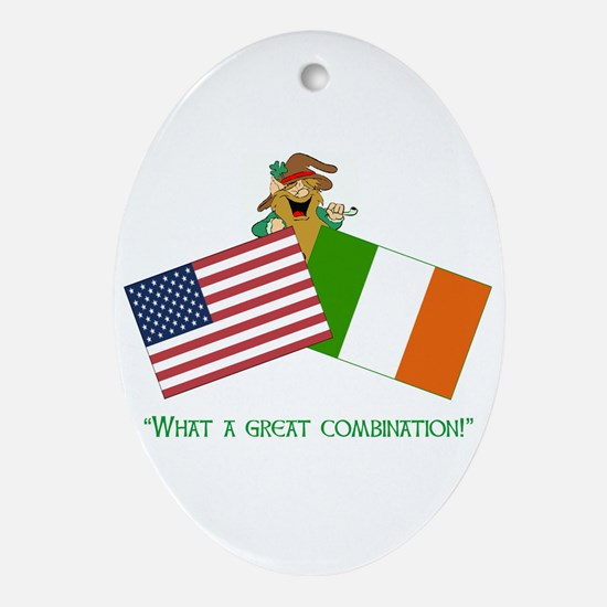 IRISH AMERICAN Oval Ornament