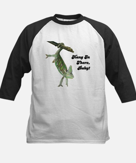 Hang In There Chameleon Kids Baseball Jersey