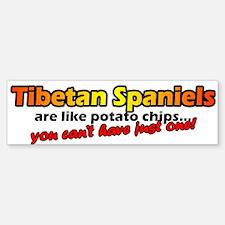 Tibetan Spaniel Potato Chip Bumper Bumper Bumper Sticker