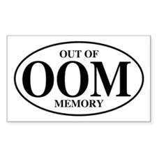 Out Of Memory Rectangle Decal
