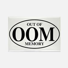 Out Of Memory Rectangle Magnet