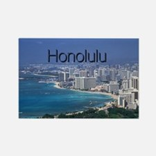 Honolulu Rectangle Magnet