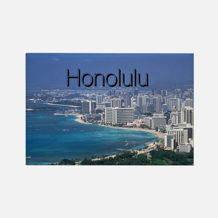 Honolulu Rectangle Magnet