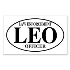 Law Enforcement Officer Rectangle Decal