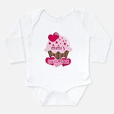 Mimi's Lil' Cupcake Long Sleeve Infant Bodysuit