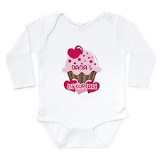 Nana's Lil' Cupcake Long Sleeve Infant Bodysuit