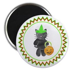 Black Witch Kitty Magnet