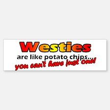 Westies Potato Chip Bumper Bumper Bumper Sticker