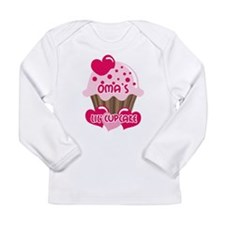 Oma's Lil' Cupcake Long Sleeve Infant T-Shirt