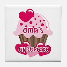 Oma's Lil' Cupcake Tile Coaster