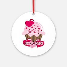Oma's Lil' Cupcake Ornament (Round)