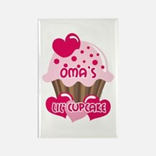 Oma's Lil' Cupcake Rectangle Magnet