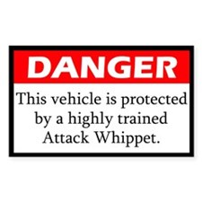 Danger Whippet Decal