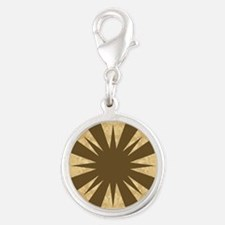 OATMEAL Silver Round Charm