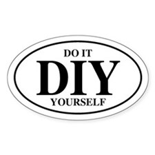 Do It Yourself Oval Decal