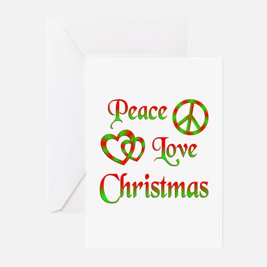 Peace Love Christmas Greeting Cards (Pk of 20)