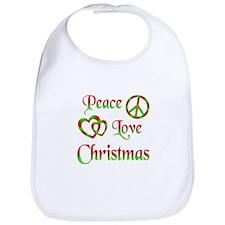 Peace Love Christmas Bib