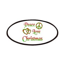 Peace Love Christmas Patches