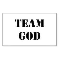 Black Team God Rectangle Decal