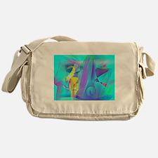 Backlight Art Messenger Bag