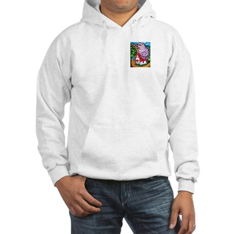Cat on a Red Tin Roof Hooded Sweatshirt