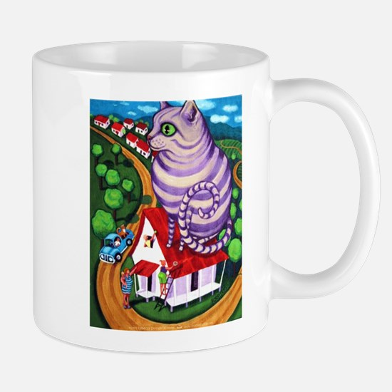 Cat on a Red Tin Roof Mug