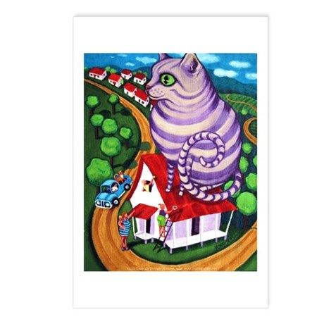 Cat on a Red Tin Roof Postcards (Package of 8)