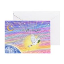 Let Go-Dove-World Greeting Card