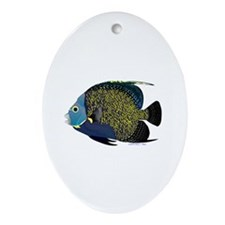 French Angelfish Ornament (Oval)