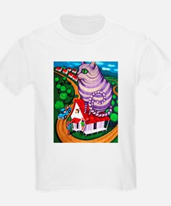 Cat on a Red Tin Roof Kids T-Shirt